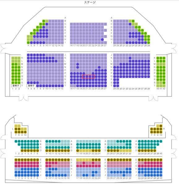 キャナルシティ劇場でノートルダムの鐘を観に行きたいと思ったのですが、赤で囲った席はどのように見えるのでしょうか?二階席の前方よりもしっかりと見えるでしょうか?