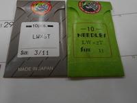 すくい縫いミシンの針でLW×2TとLW×6Tがストックがありました。 ともに11番と思いますが、この針は型番の違いは何でしょうか?