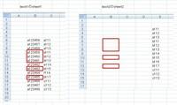 """book2のsheet2(""""E列"""")にあるデータと合致するものをbook1のsheet1(""""C列"""")から見つけ出し、 合致したセルの左隣B列の情報をbook2のsheet2(""""B列"""")に表示させるマクロを作りたいのですが教えていただけますでしょうか? コピペしたい情報は赤枠部分です。"""