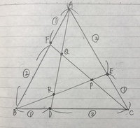 三角形ABCは一辺の長さが1の正三角形。 三角形PQRの面積を求めよ。   この問題をどなたか教えて頂きたいです。