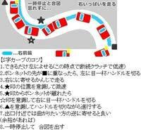 S字のコース何ですけど、 三番目の車は、左折ウィンカー 五番目の車は、右折ウィンカーですよね?