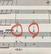 株式会社フェアリーから出ているバンドスコアからの質問です。 ドラム譜のところに、クラッシュシンバルに○をつけたような記号(画像赤丸)があったのですが、これがなにを表しているか教えて ください。