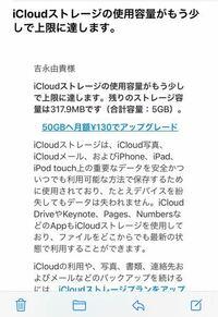 iCloudのストレージ残りわずかって メール、画像、消えますか?
