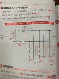 スイッチと抵抗?があるので素子は3p4eじゃないのですか?ほかのも、2p1eではなく、2p2eとかになるのじゃないのですか?よくわからないです