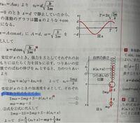 物理についての質問です。 青線の運動方程式をたてるときに、右辺を 2ma=k(x0+x)-S-2mg ma=S-mg にしてはダメなのですか?