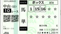 中山10R、京葉Sの添付馬券をどう思いますか?^^  買ったのは、馬連・馬単・3連複です♪