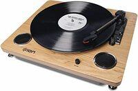 アイオンレコードのレコードプレイヤーのゴムベルトが切れてしまいました。交換したいのですがベルトの長さがわかりません。教えて下さい! レコードプレイヤーは画像のものと同じです。