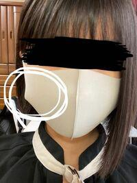 ネットで洗えるマスクを注文し、つけてみたところ、写真の通り横が空いてしまい見た目が悪いです。 これはサイズが合ってないということですか? 横が空かないようにするにはこのマスクより 大きめ、小さめどちら...