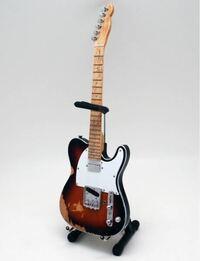 ギターの塗装についてです。 先日、ミニチュアのギターの模型を購入しました。(25センチほどの物です) このギターを、ギラギラの青に塗装したいと考えているのですが、可能でしょうか?  私は塗装経験のない素人です。また、機材なども持っていないので、筆塗りで塗りたいと考えています。 塗料等は購入します。  全く知識がないので、丁寧に教えてくださる方、どうかよろしくお願いします。