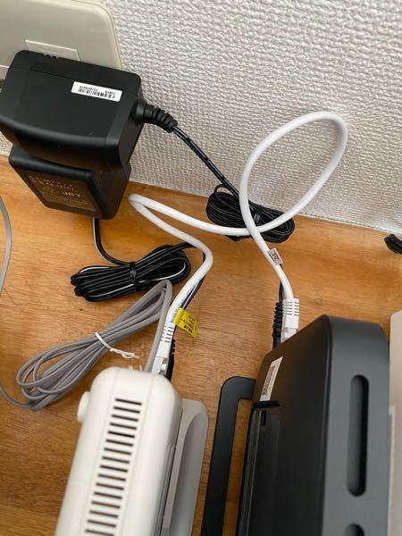これWiFiのモデムとルーターなんですが、このように線をまとめたまま使用しても大丈夫ですか?