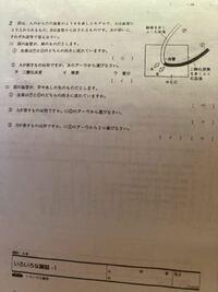 6年生の理科の問題です。この問題の⑴の①と ⑵の①の答えは合っていますか?