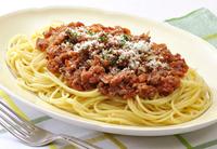 スパゲッティーミートソースの麺をうどんに変えても食べれますか?
