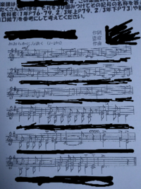 この楽譜にある記号を30個見つける課題があるのですが、9つしか見つけられません。教科書を参考にして、・見つけた記号・読み方・その記号の意味 を書けと書いてあるのですが、分かる記号を教えて下さい。