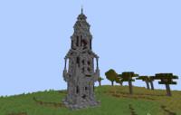 minecraftで初めて塔をつくってみました、どうですか? 建築をあまりしないのでアドバイスをもらえると嬉しいです