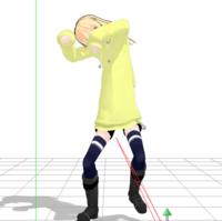 pmxeで改変してMMDで動作確認したら、服が伸びてしまうのですがどうしたらいいですか?