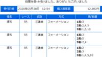 浦和競馬5R、添付馬券をどう思いますか?^^  いやあ私、だめだこりゃあ・・・・・(涙)