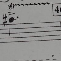 「僕らのインベンション」アルトサックス1の楽譜なのですが、この音(シ♭)とのトリルは何の音ですか? わからないので教えていただきたいです! よろしくお願い致します。 (ベストアンサーさん チップ100)