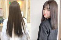 美容師の方に質問です! 毛先が写真の左のようにスカスカでも、美容院でオーダーすれば右の方のように、まとまっているような感じになりますか?