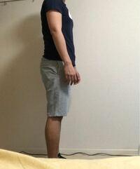 ナイキのスウェット生地のハーフパンツの丈って、これだと少し長いですかね?