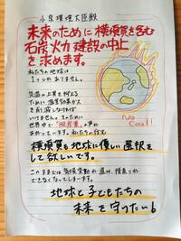 以下の東京新聞の記事を読んで、下の質問にお答え下さい。 https://genpatsu.tokyo-np.co.jp/page/detail/1445 (東京新聞 「横須賀から脱石炭を」小泉環境相へ手紙を出そう、若者らが呼び掛け)  『「小泉環境...