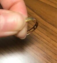 貴金属の刻印について詳しいかた、お願い致しますm(_ _)mこのリングなのですが、K18Pt900のあとに14の刻印があるのですが、これはどうゆう意味ですか?