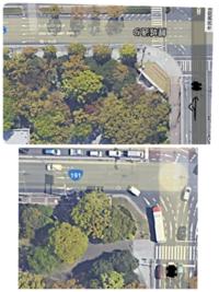 車線について質問なんですが、この2枚の画像のような左折後に三車線になる場合、黒で塗りつぶした車は一番左の車線に入るのが正解なのでしょうか? また、真ん中の車線に入るには左折後に左の車線に入り斜線変更をしたらいいのでしょうか?  初歩的な質問ですがご回答のほどよろしくお願いします...