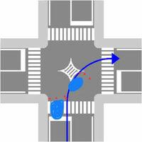 道交法 右折 悲しいことに、90%以上が同性の女性なのですが(もしくは高齢者)右折する際に、中央の菱形マークの辺りに寄らずに、元来た走行車線上で停止して右折ターンシグナルを点滅し、後続車を全停車させてい...