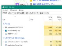 ブラウザでタブを10個ほど開いて消費メモリが132.3MBというのは少ないと思いませんか? Windows10の2004を使っています。