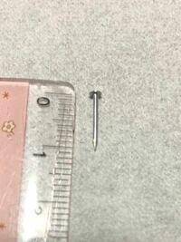 リビングのフローリングと階段を上り切ったフローリングの上、別々の日に1本ずつ釘が落ちていました。家族に心当たりはなく、何の釘なのか気になるので、何に使う釘なのかわかる方教えてください。 すごく小さくて細い釘です。