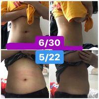 ダイエットについてアドバイスください! 20歳女、147cm/48kgです。 5月末、自粛期間で51kgまで太ったのをきっかけにダイエットをはじめました。  まず、私が5月中~6月頭にかけて行っていたことを説明させてください。  運動は、YouTubeの脂肪燃焼ダンスと筋トレ(特にお腹を痩せたいので腹筋系)をしていました。また、ソイプロテインを運動後にとっていました。 食事は、学生会館に住ん...