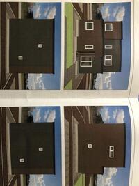 新築住宅の外壁で悩んでいます。 北海道在住です。 この家の外観を黒ガルバリウム×木目 グレーガルバリウム×木目 などにしたら変でしょうか?  どんな風にしたらカッコ良くなりますでしょうか?