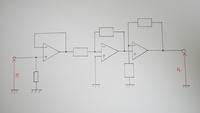 電子回路の、演算増幅器(オペアンプ)に関する問題です。 学校の授業にて、写真の回路の解き方を考えてくる問題を出されたのですが、 どうやって解けば良いのかわかりません。 普通は公式などを使えば、Avf=Rf/R...