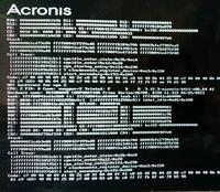 Acronis True Image WD Editionでシステムドライブのクローン作成をしようとしましたがこの画面が出てから数分後に似た画面がスクロールして表示される。 というのを繰り返して20時間経ちますが強制再起動したほうがいいのでしょうか?   CrystalDiskInfoでCドライブが注意表示だったので新しいHDDに入れ換えたいのですがOSの入れ直し以外でおすすめはありますか?