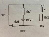 この回路の電流 I を鳳テブナンの定理により求める問題なの ですがテブナンの定理がいまいち理解できません。どなたか  解き方を教えてください。  お願いします。