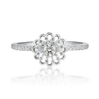 プラチナ950で、ダイヤモンド合計0.18カラットのリングです。 どう思いますか? アラフォー女性がしてて大丈夫なリングでしょうか?