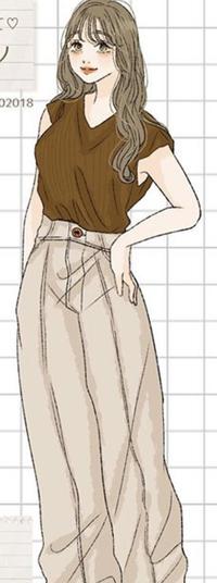 イラストの上の服に似たものはGUにありませんか? 商品名知っている方いましたら教えていただきたいです。