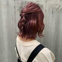 ブリーチ無しでこの髪色は難しいですか? 因みにブリーチは10回くらいしたことあり、今は少し明るい茶色です。