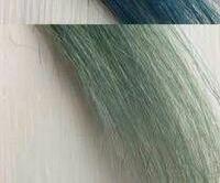 青髪(暗いネイビー)にした後の色落ちで画像のような緑っぽいようなターコイズっぽいような色になってしまったんですが、 マニパニで暗いネイビーに戻すには 何色を買えば良いですか?普通に青を買えば良いですか?