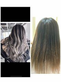 美容院行っても理想の髪色にならないのはなぜですかあああああ!優しい方教えて… 美容院から1週間後で右画像。 ブリーチの回数、染めてる回数が少ないからですか? 元の黒髪が強すぎて色入らないのかな? 前頭ブリーチはしたことないです。