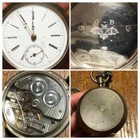 この懐中時計がどの様な物か分かる方はいませんか? ネットで調べてみたのですが、よく分かりませんでした。 ライオンとヒョウのマークがあるので、ロンドンで製造された時計かも?と考えていますが、下にある右...