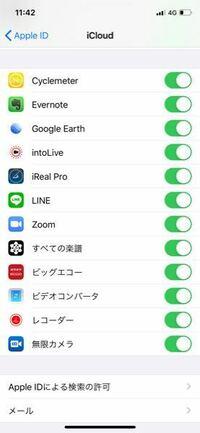 バックアップしたいアプリのデータがあるのですが、以下のiCloudに表示されていないアプリはバックアップされないですよね? また、表示するようにできませんでしょうか?