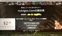 TVSTREAMDBで生放送を観たいものがあり、無料アカウントを作成しました。個人情報は、姓名、メールアドレス、クレジット番号、郵便番号登録です。 登録後、Indulgist.Comというサイトに飛び、下の写真のような画...