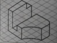 この図の正面図・平面図・右側面図を教えてください。