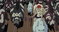 ジブリ「もののけ姫」で登場するイノシシ達は、人間との決戦の時なぜこのような模様を互いに着け合っていたのですか?