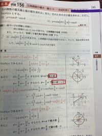 三角関数の合成です 最大値と最小値はなぜこうなるのですか?