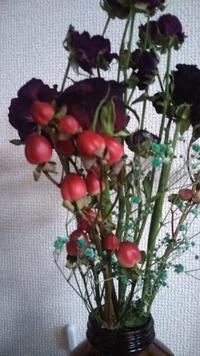 花束を頂いたので、 画像の実のようなものをドライフラワー?にしました  花に詳しくないのですが、 この赤い実の名前はなんでしょうか?  ハーバリウムオイルにつけても 大丈夫でしょう か?