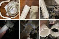 洗濯機の排水ホース交換で困っております。  ・中古で購入した無印良品の洗濯機 ・水漏れがあり確認したところ、洗濯機本体に繋がっている排水ホースの洗濯機接続口からすぐの箇所に穴が開い てしまっていました ・排水ホースを交換しようと正規品の排水ホースを購入したのですが、上手く接続ができず ・今までの排水ホースは接続部分が伸縮性のある素材で洗濯機の接続口を覆った状態だったのですが、購入し...