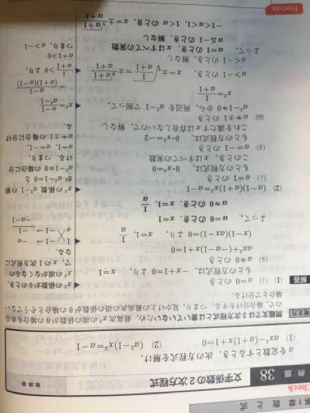 (1)の(ⅱ)の時a>0の時と、a<0の時に場合分けしてないのはなぜですか?
