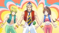 この3人家族は常に帽子をかぶっているがアラジンと魔法のランプをイメージしたのですか? また、服装もアラジンと魔法のランプをイメージしたのですか?