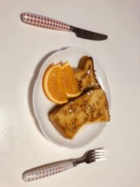 中学生でおすすめの朝ごはんを作るという課題があってフレンチトーストを作ったのですが明日提出で枠に(家族に食べてもらった感想)があって食べてもらってなくて考えて欲しいです!